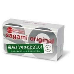 ถุงยาง Sagami Original 0.02 12's Pack 1 กล่อง