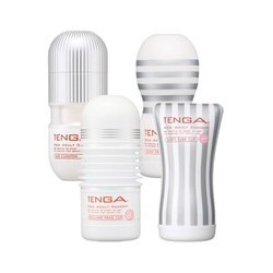 TENGA white super combo set 4