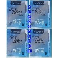 Okamoto Dot de Cool โฉมใหม่ แพค 4 กล่อง