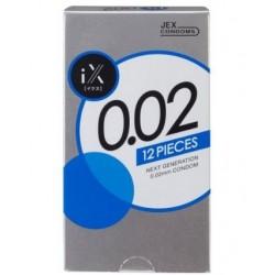 JEX condom 0.02 EXTRA 1 กล่อง 12 ชิ้น