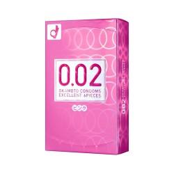 Okamoto 0.02 EX JAPAN 3 colors 1 กล่อง 6 ชิ้น