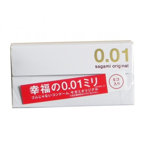 Sagami Original 0.01 กล่อง 5 ชิ้น
