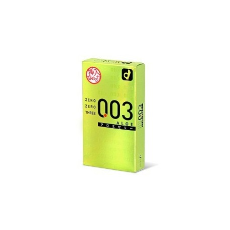 ถุงยาง Zero Zero Three 0.03 okamoto Aloe (Japan Edition) 1 กล่อง