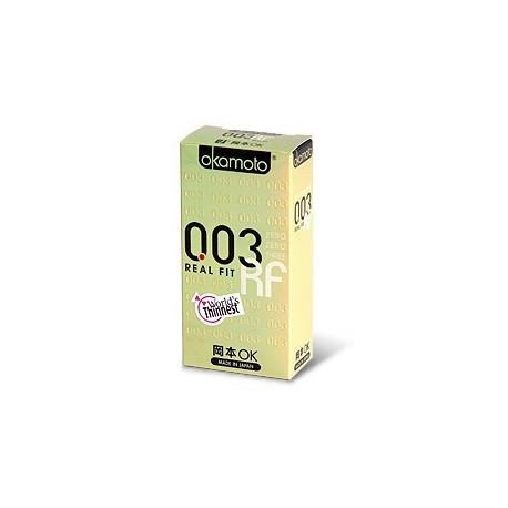 ถุงยาง Okamoto 0.03 Real Fit 1 กล่อง (10 ชิ้น)
