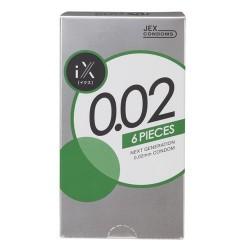 ถุงยาง JEX condom 0.02 EXTRA 1 กล่อง 6 ชิ้น