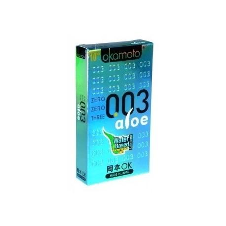 ถุงยาง Okamoto 0.03 Aloe 1 กล่อง