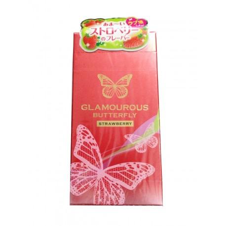 ถุงยาง Glamourous Butterfly Strawberry 1 กล่อง