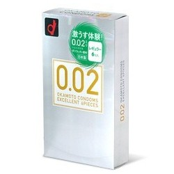 Okamoto 0.02 EX JAPAN 1 กล่อง 6 ชิ้น