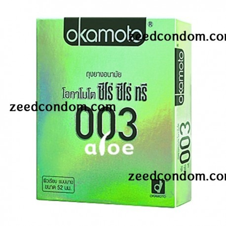 Okamoto 003 Aloe ซีโร่ ซีโร่ ทรี อะโล 1 กล่อง