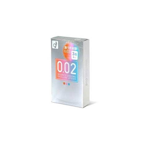 ถุงยางอนามัย Okamoto 0.02 EX JAPAN 3 colors 1 ชิ้น