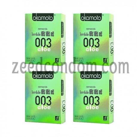 Okamoto 003 Aloe แพค 4 กล่อง