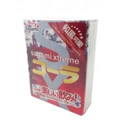 ถุงยาง Sagami Xtreme Cola 1 กล่องมี 3 ชิ้น