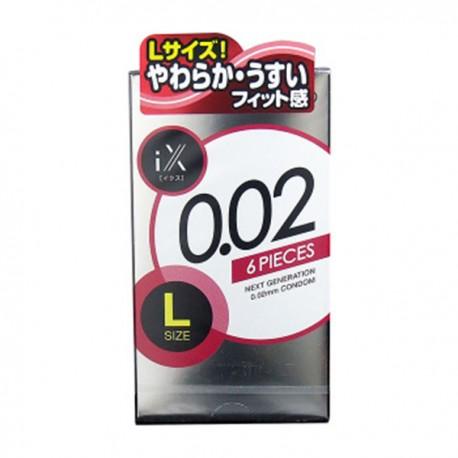 ถุงยาง jex condom 0.02 Size L 1 กล่อง 6 ชิ้น